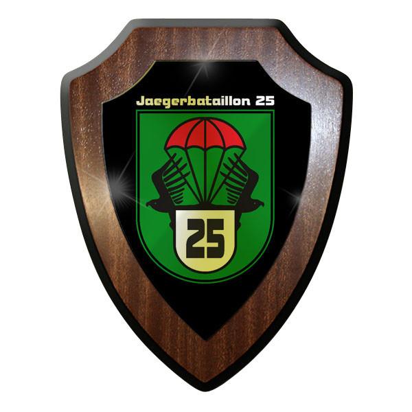 Wappenschild / Wandschild / Wappen Jäger Bataillon JgBtl 25 Wappen Emblem #9023