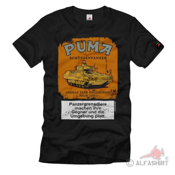 Panzergrenadier SPz Puma Schachtel Fun Zigaretten BW Bundeswehr T-Shirt#36987