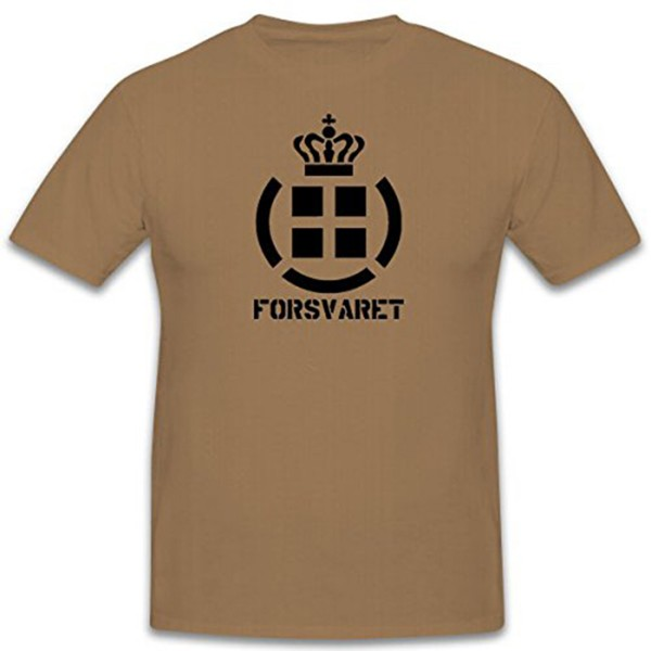 Forsvaret Danish Defense Force Denmark Forsvaret Military Crest T Shirt # 12438