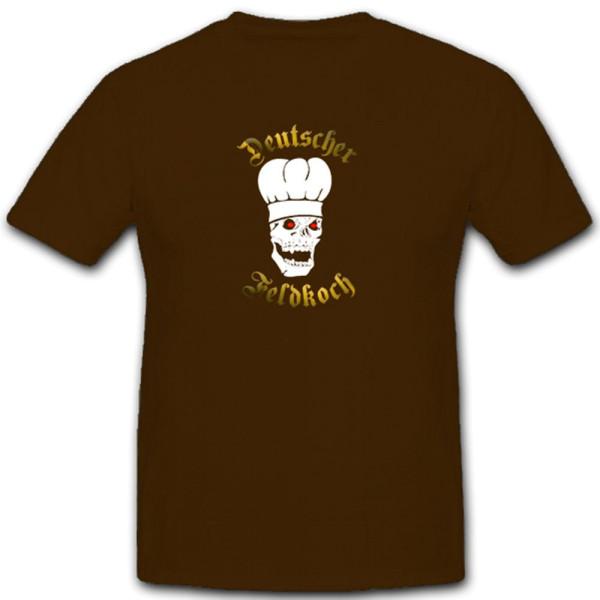 Deutscher Feldkoch Skull Totenkopf Kochmütze Militär - T Shirt #5393