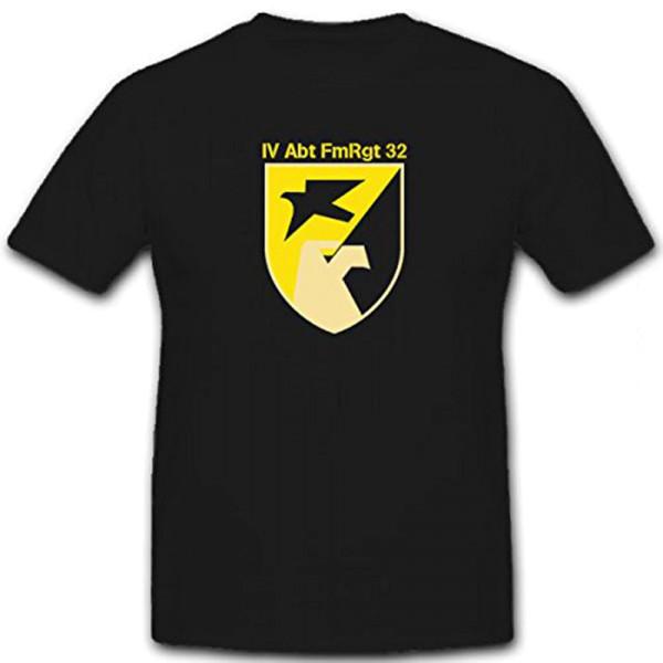 IV Abt FmRgt 32_Fernmelderegiment Abteilung Wappen Bundeswehr - T Shirt #12963