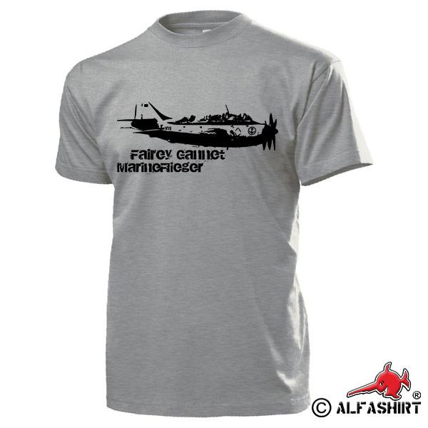 Fairey Gannet MFG2 Fly NAVY Marine Aviation Squadron Navy - T Shirt # 15879