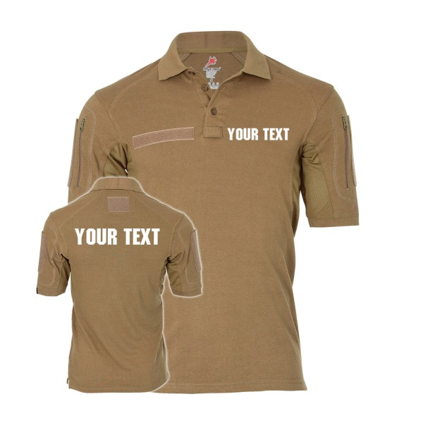 Your Text Tactical Polo personalized customized individual special unit #36503