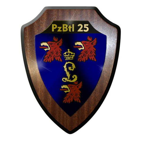 Wappenschild -PzBtl 25 Panzerbataillon Panzer Bataillon Heer Bundeswehr #9331