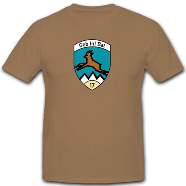 GebBat 17 Mountain Infantry Battalion Mountain Battalion 17 - T Shirt # 11322