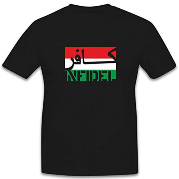 Ungarn Infidel ungläubiger ISAF Anti Terror Kämpfer Fahne Flagge - T Shirt #7587