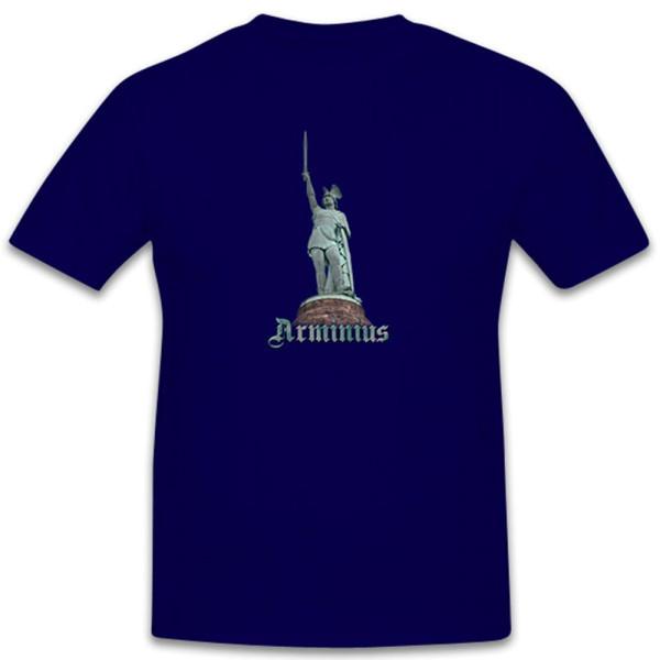 Arminius Hermann Memorial Hero Statue Teutoburg Forest - T Shirt # 11097