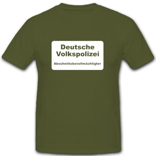 Volkspolizei Ddr Ossi Osten Abschnittsbevollmächtigter T Shirt #2227