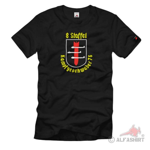 Kampfgeschwader 76 8. Staffel Wappen Emblem Luftwaffe WH - T Shirt #1056