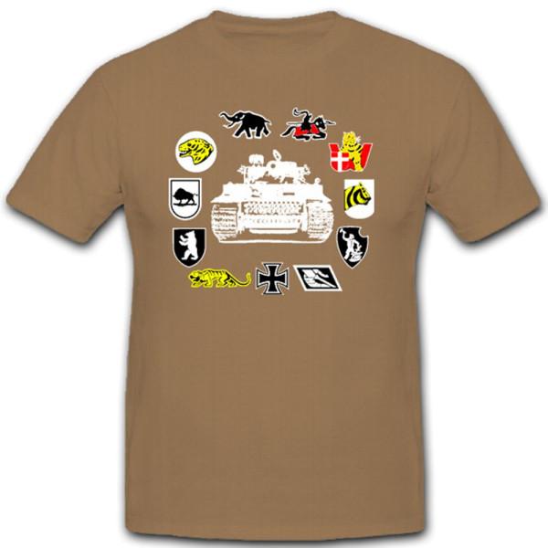 Heavy Armor Departments Armor Crests Emblems Badges Tiger - T Shirt # 11024