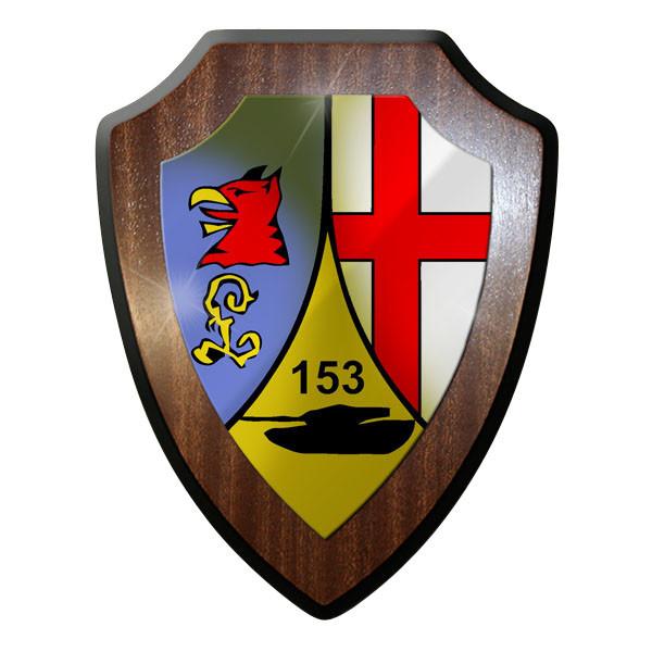 Wappenschild / Wandschild / Wappen - Panzerbataillon PzBtl 153 Panzer #8877
