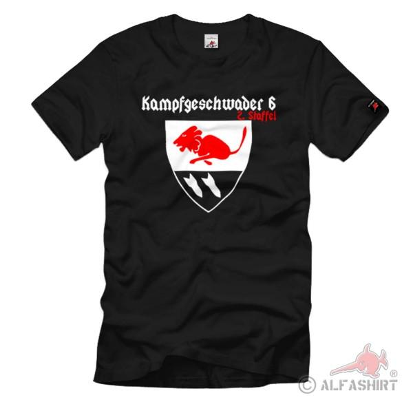Combat Squadron 6 Air Force Bomber Wing 6 Unit Squadron Crest T Shirt #1087