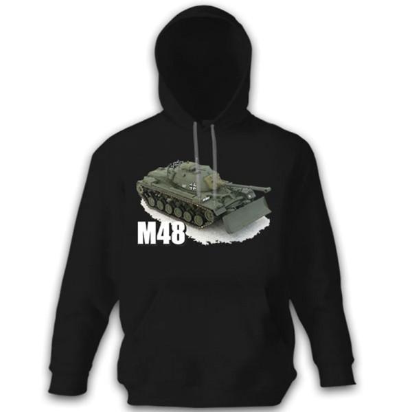 M 48 Panzer Panzerfahrzeug Kampfpanzer Patton Tank - Pullover Hoodie #8799