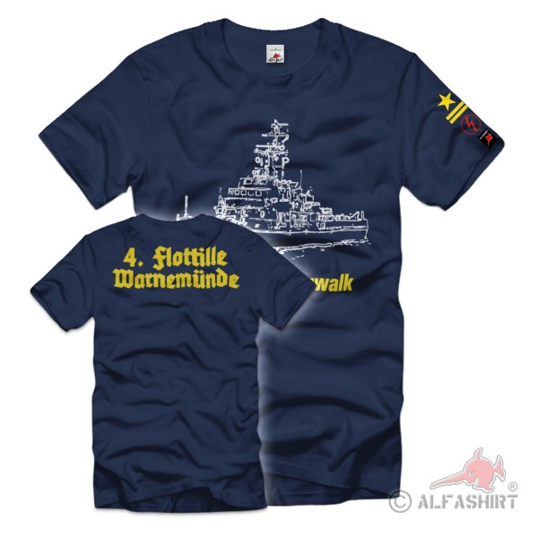 MSR 325 Pritzwalk Staff Sailor Funk 4 Rank Badge T-Shirt # 36225