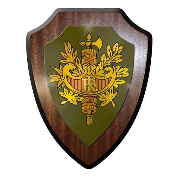 Wappenschild - Französische Streitkräfte Armoiries république Militär #10048