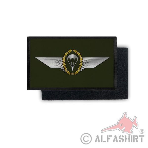 Patch Fallschirmspringer Abzeichen BW Fallschirmjäger Uniform 9,8x6cm #31238