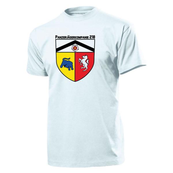 Panzerjägerkompanie 210 - PzJgKp 210 Bundeswehr Army Crest - T Shirt # 11189