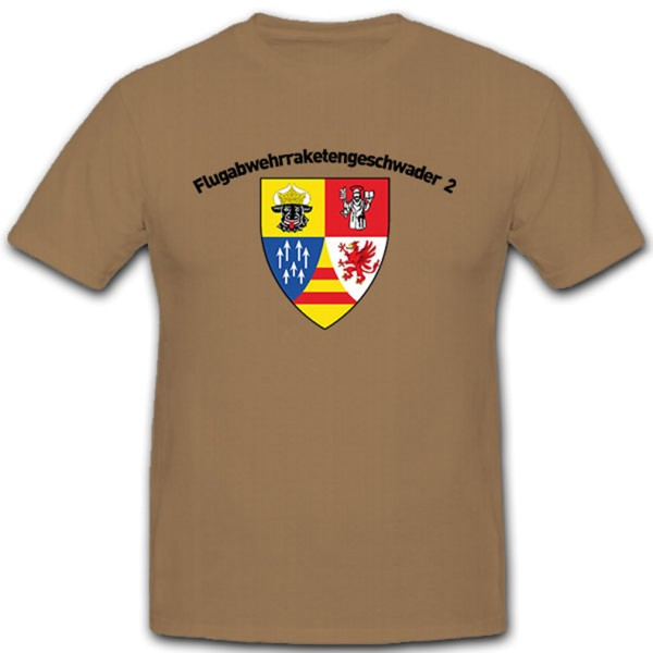 Anti-aircraft missile squadron 2 Luftwaffe Bundeswehr Germany - T-shirt # 10449