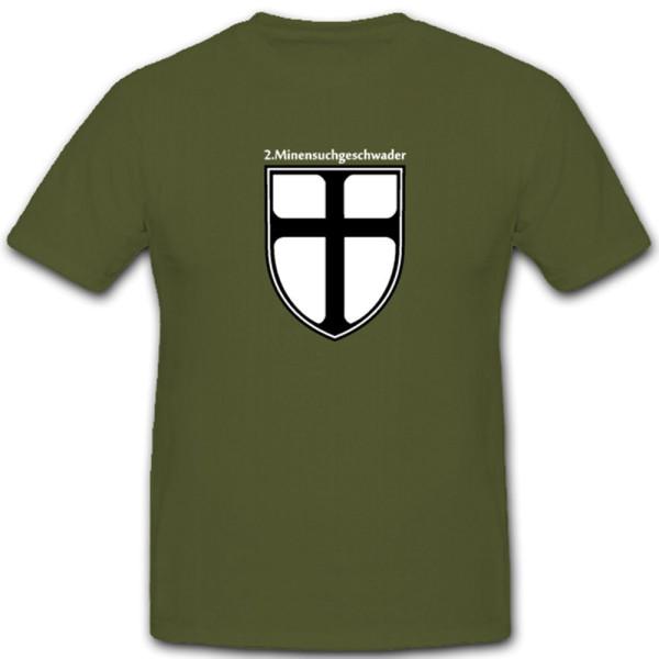 2 Minensuchgeschwader Bundeswehr Wappen Marine Emblem - T Shirt Herren #4588