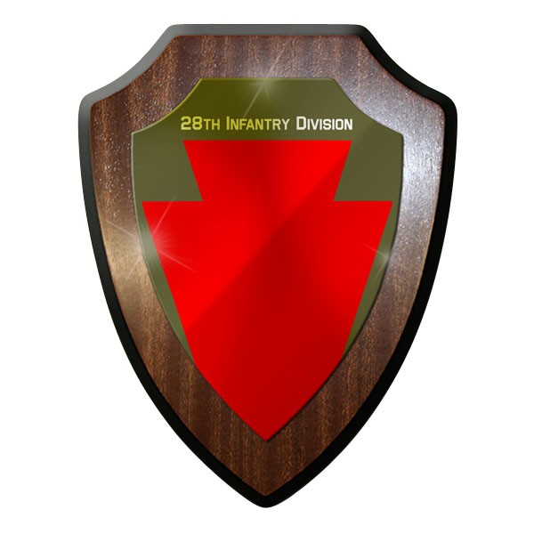 Wappenschild / Wandschild / Wappen - 28th Infantry Division SSI WW2 Wk 2 #10006