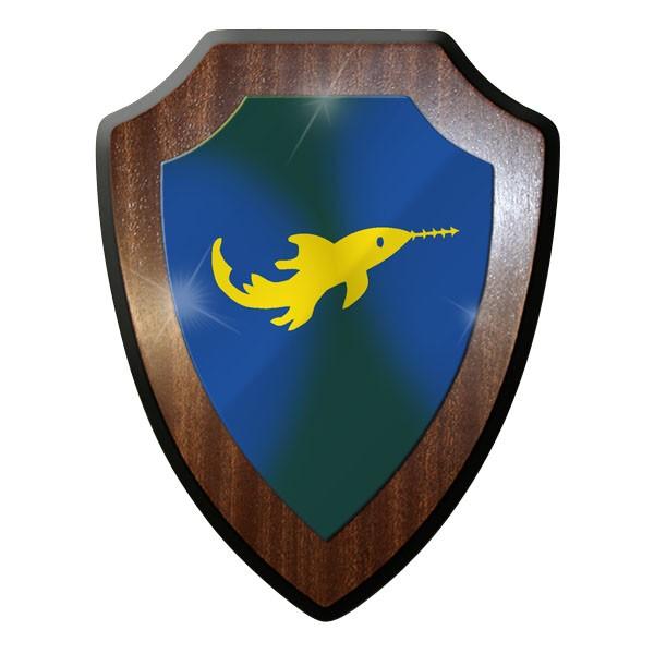 Wappenschild - Kleinkampfmittel Bewährungsabzeichen Marine Wk2 Sägefisch #9000