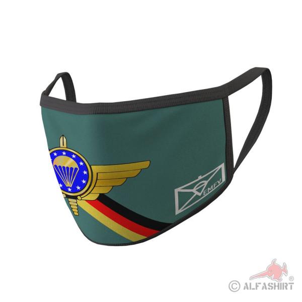 Mundmaske EMFV Fallschirmspringer Verein Bundeswehr Abzeichen Europa #35306