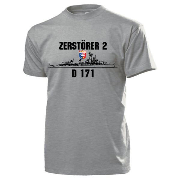 Zerstörer 2 D171 Bundesmarine Fletcher Klasse Z2 Bundeswehr - T Shirt #13161