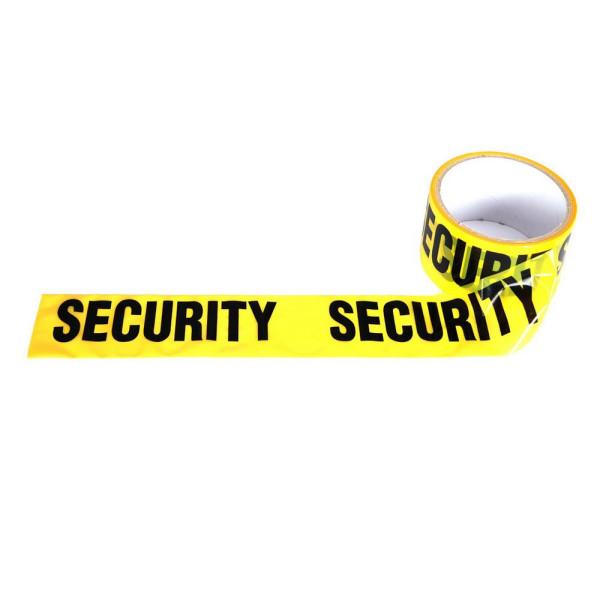 SECURITY Absperrband 30 Meter_Sicherheitsdienst Band Rolle Wach-Dienst #25320