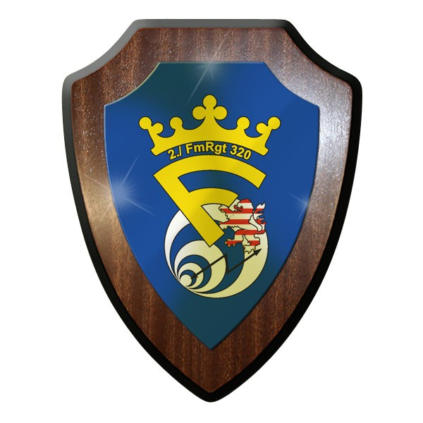 Wappenschild / Wandschild / Wappen - 2. FmRgt 320 Fernmelde Regiment #11642