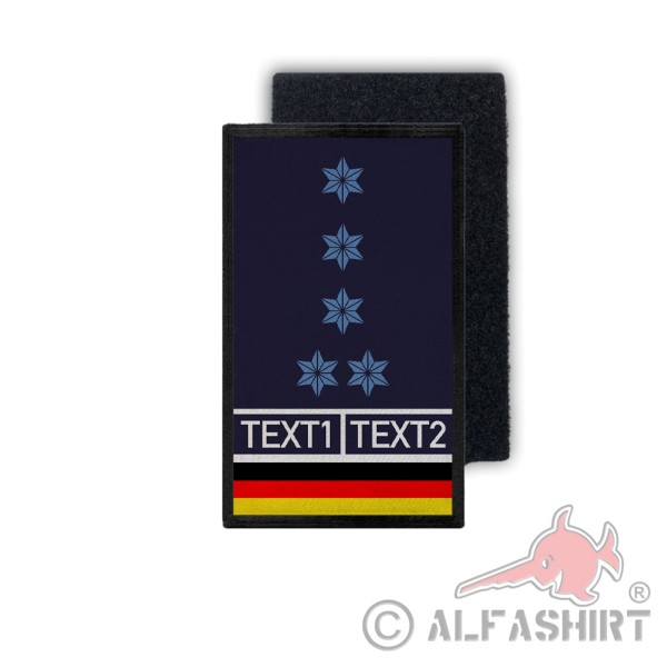 Rank Patch PHM A12 Police Rank Badge Personalized TH9.8x6cm # 36203