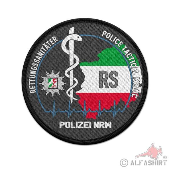 Patch Rund RS NRW Polizei Rettungs Sanitäter Sanitätsdienst Police #37099