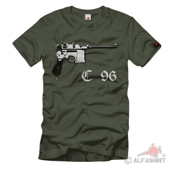 Mauser C96 Selbstladepistole Construction Waffe Pistole - T Shirt #272