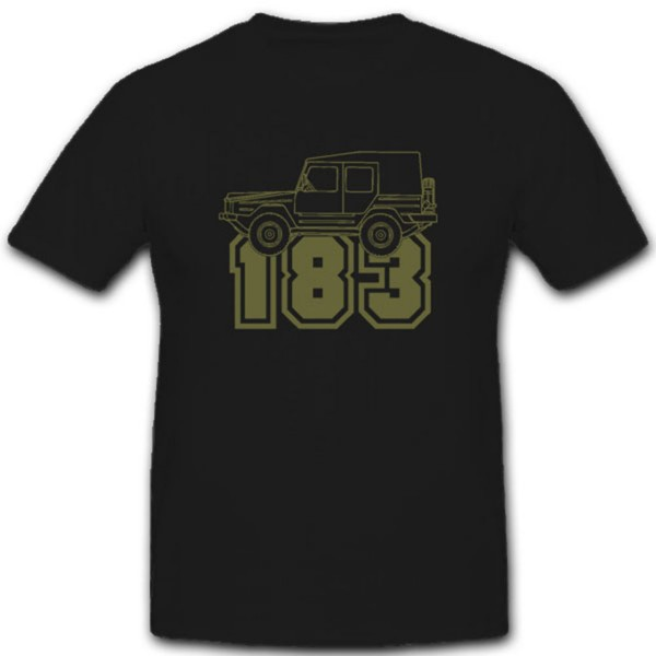 Typ 183 Bundeswehr Fahrzeug Frettchen 4x4 Allrad Geländewagen - T Shirt #4390