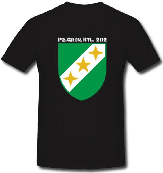 PzGrenBtl 202 Panzergrenadierbataillon 202 Bundeswehr Heer Militär T Shirt #´#288