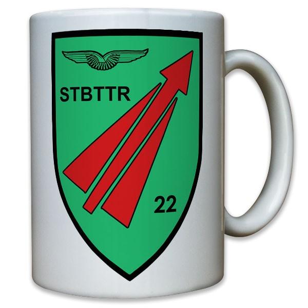 Wappen FlaRak 22 STBBTTR Stabs Batterie Flugabwehr Raketen - Tasse #11801