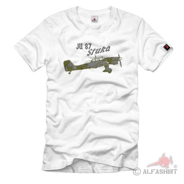 Ju 87 Stuka Sturzkampfbomber Wk2 Kampfbomber Sturzkampfflugzeug T-Shirt #1011