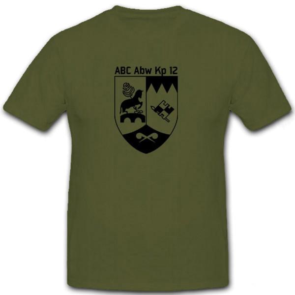 AbC Abw Kp 12 Bundeswehr ABC Abwehr Kompanie Abzeichen Wappen - T Shirt #7086