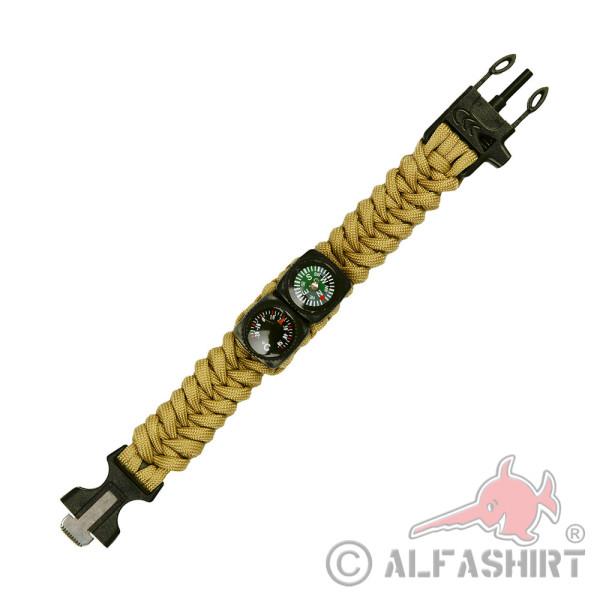 Survuial Paracord Armband Kompass Seil Bushcraft Prepper Überleben Set#36584