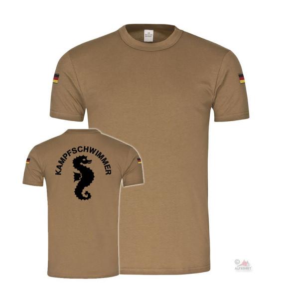 BW Tropen Kampfschwimmer Bundeswehr Marine BW Tropenshirt TSK T-Shirt#36432