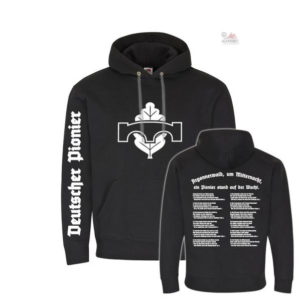 Hoodie German Pioneer Argonnerwald Lied Bundeswehr Soldier Sweater # 36170