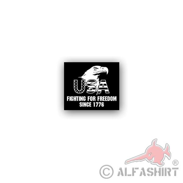 Aufkleber/Sticker USA fighting for freedom since 1776 Infidel Adler 8x7cm A3518