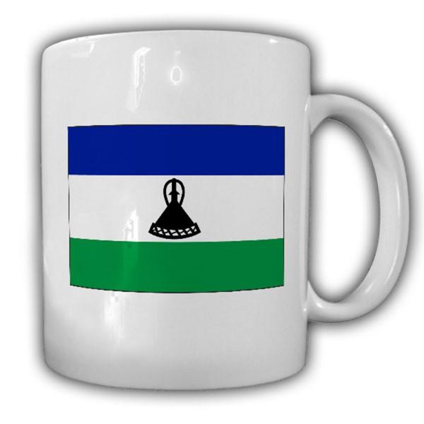 Lesotho Fahne Flagge Königreich Kingdom of Lesotho - Tasse #13675