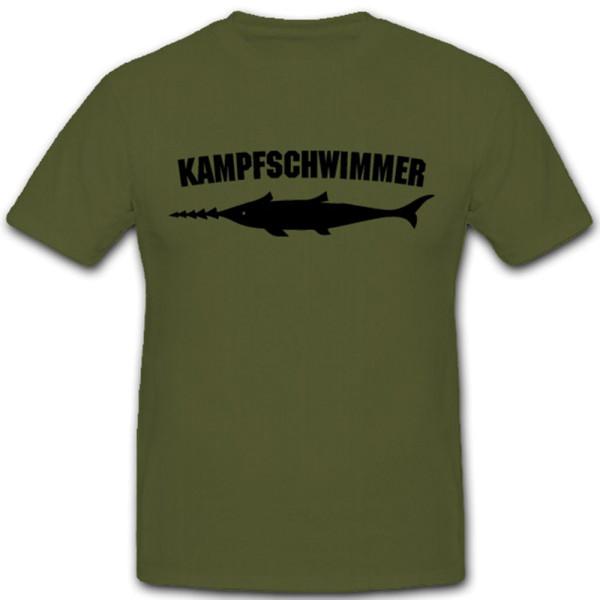 Kampfschwimmer Sägefisch Schwertfisch Bundeswehr Wappen Froschmänner Froschmann Abzeichen Emblem - T