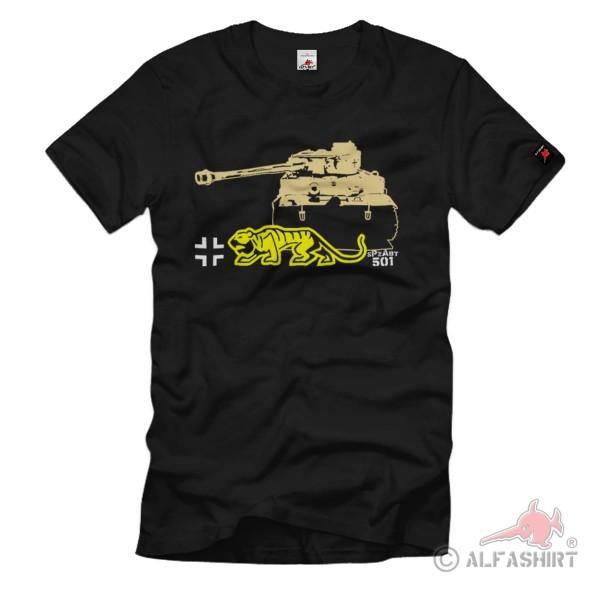 Heavy Panzer Division sPzAbtl 501 Tiger Unit Panzer Division T Shirt # 1247