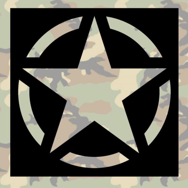 Lackierschablonen Aufkleber US Army Stern Allied Star Amerika 15x15cm A462