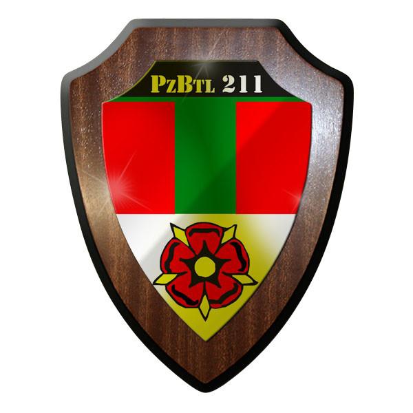 Wappenschild / Wandschild / Wappen - PzlBtl 211 Panzerbataillon Bw Wappen #8828