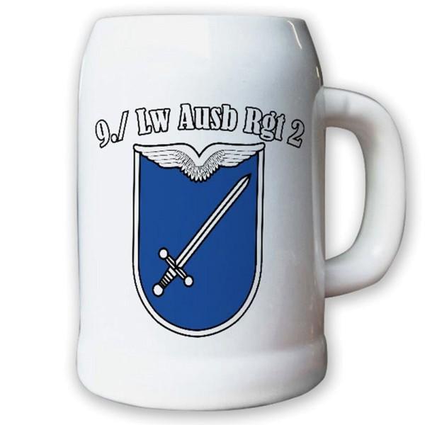Krug / Bierkrug 0,5l - 9. LwAusbRgt 2 Luftwaffe Ausbildung Regiment #12265