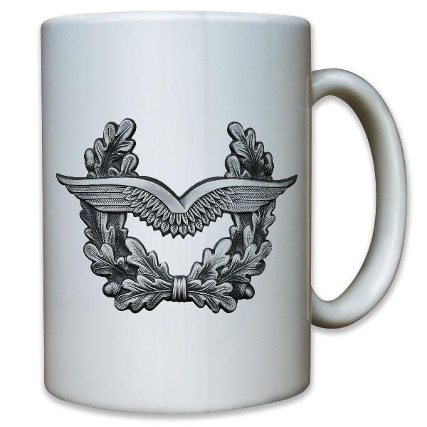Luftwaffe Pilot Flieger Barettabzeichen Mützenkranz Abzeichen - Tasse #11436