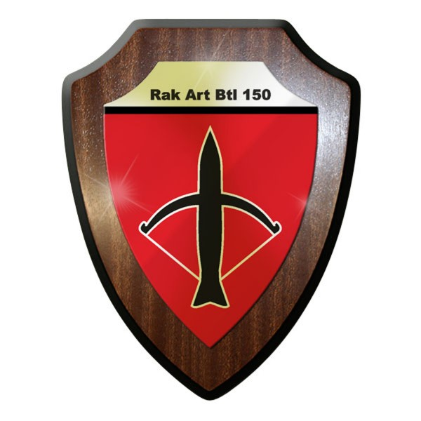 Wappenschild / Wandschild - RakArtBtl 150 Raketen Artillerie Bataillon - #11723