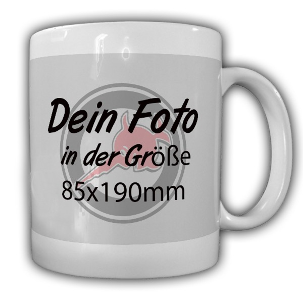 Tasse Personalisiert Dein Foto 85x190mm Bild Familie Freunde Selbst gestalten Individuell Personalis